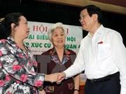 Presidente vietnamita sostiene contactos con electores