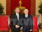 Dirigentes vietnamitas reciben al titular de Cámara de Consejeros de Japón