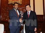 Presidente Truong Tan Sang llama a Qatar a invertir en Vietnam