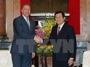 Presidente de Vietnam recibe a primer vicepremier ruso