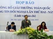 Concederán en Vietnam premio nacional de informaciones al exterior 2015