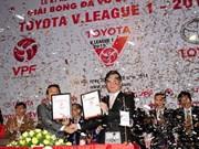 Toyota continúa siendo patrocinador de la liga vietnamita de fútbol