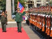 Vietnam y Laos firman plan de cooperación en defensa 2016