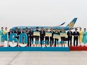 Vietnam Airlines da bienvenida a viajero número 160 millones