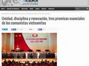 Medio de comunicación argentino elogia éxito del Congreso del PCV