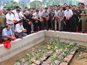 Sepultan restos de mártires vietnamitas caídos en Cambodia