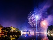 Hanoi abre nuevo año lunar con fuegos artificiales