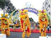 Con espectáculos y júbilo, vietnamitas reciben el Año de Mono