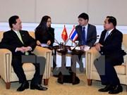 Primer ministro de Vietnam se reúne con su par tailandés