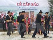 Sapa promueve ritual de la madurez de la comunidad Dao Rojo