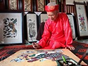 Pintura tradicional vietnamita fascina a visitantes a festival de Asia en Nueva York