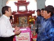 Presidente de Vietnam recorre por distrito insular de Ly Son