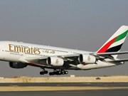 Emirates Airlines abrirá vuelos directos a capital vietnamita