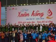 Comienza festival anual de donación voluntaria de sangre en Hanoi