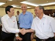 Presidente de Vietnam mantiene contacto con electores en Ciudad Ho Chi Minh
