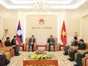 Vietnam y Laos estrechan cooperación en defensa