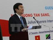 Presidente de Vietnam continúa actividades en Tanzania