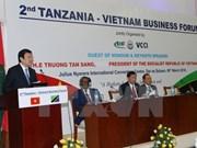 Vietnam espera promover nexos con Tanzania en agricultura y telecomunicaciones