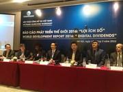 Banco Mundial presenta informe sobre desarrollo mundial 2016 en Hanoi