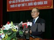 Electores en provincia vietnamita satisfechos ante reformas de Asamblea Nacional