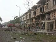 Encuentran materiales para fabricar bombas en escenario de explosión en Hanoi