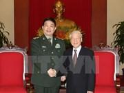 Secretario general del PCV recibe al ministro de Defensa de China