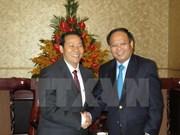 Promueven cooperación entre Ciudad Ho Chi Minh y territorio laosiano