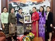 Uniones de Mujeres de Vietnam y Laos refuerzan lazos de cooperación