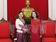 De visita en Vietnam presidenta de Unión de Mujeres de Laos