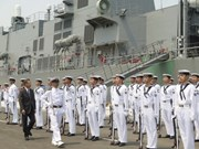 Buques de fuerza marítima de autodefensa de Japón arriban a Cam Ranh