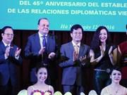 Ceremonia por aniversario 45 de las relaciones diplomáticas Vietnam – Chile