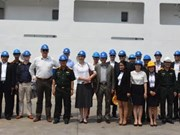Delegación de agregados militares de Holanda en Asia-Pacífico visita Da Nang