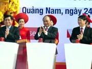 Premier participa en acto inicial de construcción de obras claves en Quang Nam
