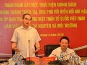 Debaten en Vietnam medidas para responder al cambio climático