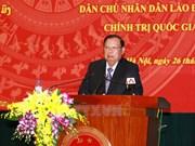 Presidente laosiano visita Academia Nacional de Política Ho Chi Minh