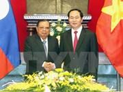 Visita del presidente laosiano a Vietnam profundiza nexos especiales bilaterales