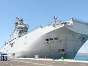 Buque francés realiza visita amistosa a Vietnam