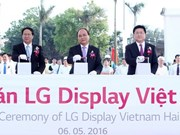 Arranca en ciudad vietnamita construcción de fábrica de pantallas OLED de LG