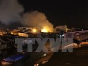 Incendio en mercado de vietnamitas en Laos