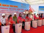 Inauguran ruta de transporte de contenedores en puerto de Vietnam