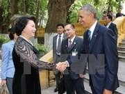 Líder parlamentaria vietnamita se reúne con presidente estadounidense