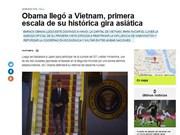 Prensa argentina destaca visita a Vietnam de Barack Obama