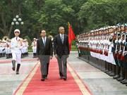 Presidente vietnamita recibe a Barack Obama en Hanoi