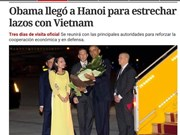 Medios de comunicación argentinos resaltan actividades de Obama en Hanoi