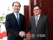 Presidente de Vietnam dialoga con líderes laosianos
