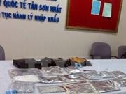 Decomisan cargamento de cocaína en aeropuerto en Ciudad Ho Chi Minh