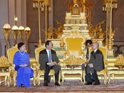Presidente vietnamita dialoga en Phnom Penh con rey camboyano