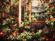 Galería de pinturas bordadas impresiona a visitantes a Da Lat