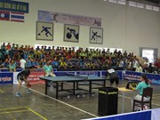 Organizan torneo internacional de tenis de mesa en provincia vietnamita