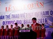 Efectúan abanderamiento a delegación vietnamita a Juegos Olímpicos 2016